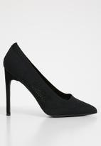 Cherry Collection - New york laser-cut stiletto heels - black