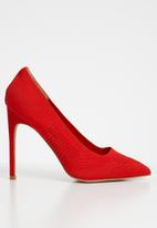 Cherry Collection - New york laser-cut stiletto heels - red