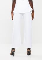 DAVID by David Tlale - Mmeli palazzo pants - white