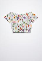 Rebel Republic - Bardot woven blouse - multi