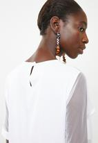 DAVID by David Tlale - The dorothy top - white