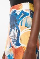 DAVID by David Tlale - Graca A-Line pants - blue, orange & yellow
