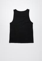Lizzard - Salty printed vest - black