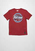 Lizzard - Lasso printed tee - red