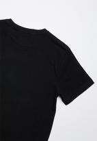 Lizzard - Lasso printed tee - black