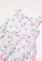 POP CANDY - Fit and flare butterfly print dress - blue & pink