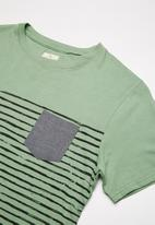 Lizzard - Amiel stripe tee - green
