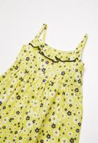 POP CANDY - Frill Summer ditsy print dress - yellow