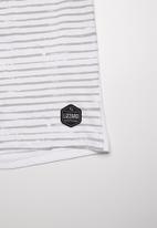 Lizzard - Amiel stripe tee - white