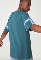 Cotton On - Drop shoulder longline tee - blue