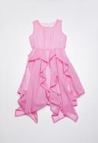 Rebel Republic - Chiffon dress with ruffle detailing - pink