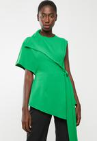 DAVID by David Tlale - Nomzamo flap top short - green