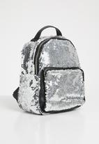 POP CANDY - Sequin backpack - silver