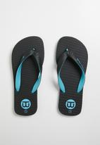 World Tribe - Ultimate boys youth flip flop - black