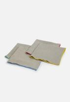 Sixth Floor - Polly napkin set of 4 - multi/grey