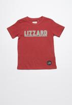 Lizzard - Griffith printed tee - red