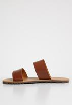 Superbalist - Two strap slide - tan