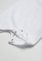 POLO - Alex short sleeve babygrow - white