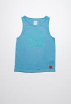 Lizzard - Hyatt printed vest - blue