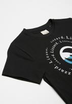 Lizzard - Vegas printed tee - black