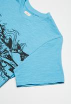 Lizzard - Garian printed tee - blue