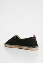 Superbalist - Men's espadrille slip on canvas - black