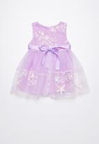 POP CANDY - Embroidered flower & star dress - purple