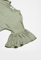 Rebel Republic - Frill detail dress - khaki