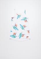 Lizzy - Jendayi printed vest dress - white