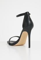 57e09a35eb7ec Caraa ankle strap stiletto heel sandal - black ALDO Heels ...