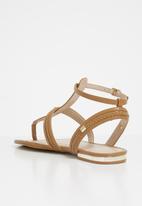 908df5d8bd50 Fiema plaited detail flat gladiator sandal - cognac ALDO Sandals ...