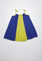 Superbalist - Colourblock smock dress - blue & yellow