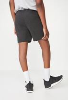Cotton On - Coar side stripe double knit shorts - black