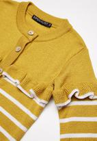 Superbalist - Striped cardigan - yellow & white