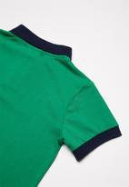 Superbalist - Pique cotton polo shirt - green