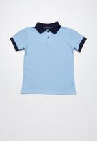 Superbalist - Pique cotton polo shirt - blue