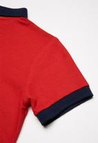 Superbalist - Pique cotton polo shirt - red
