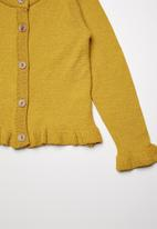 Superbalist - Cropped tipped cardigan - yellow