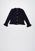 Superbalist - Cropped tipped cardigan - navy