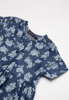 Superbalist - Smocked button through dress - navy