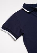 Superbalist - Pique cotton polo shirt - navy