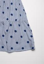 Superbalist - Blocked tiered summer dress - blue