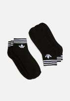 adidas Originals - Trefoil liner ankle socks 3 pack - black
