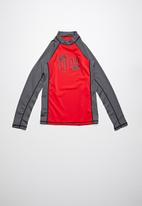 Lizzard - Danan rash vest - charcoal & red