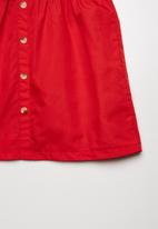 Superbalist - Button through combo dress - red