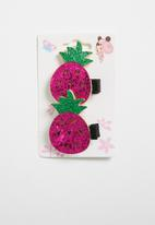 POP CANDY - Pinapple hairclips - pink