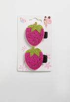 POP CANDY - Strawberry hairclips - pink