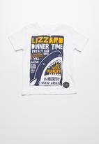 Lizzard - Aphro printed tee - white