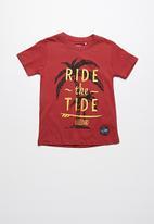 Lizzard - Taye printed tee - red