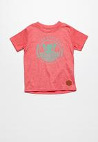 Lizzard - Hendryx printed tee - red